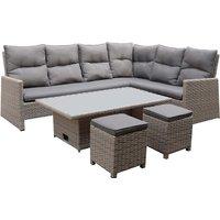 Mortimer Rattan Garden Corner Sofa Set