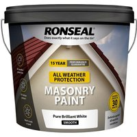 Ronseal All Weather Masonry Paint Pure Brilliant White 10L