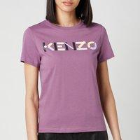 KENZO Women's KENZO Logo Multico Classic Tshirt - Blackcurrant - S