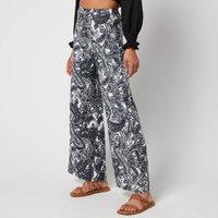 Faithfull The Brand Women's Sibyl Pants - Faye Paisley Print Charcoal - M