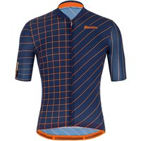 Santini Eco Sleek Dinamo Jersey - S - Nautica Blue