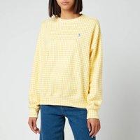 Polo Ralph Lauren Womens Gingham Jumper - Oasis Yellow/White - M