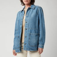 BOSS Womens Denim Jacket 5.0 - Medium Blue - UK 8