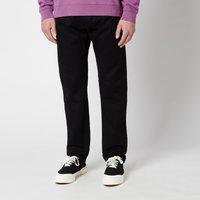 Edwin Men's Ed-55 Kaguya Selvedge Regular Tapered Jeans - Black Rinsed - W32/L32