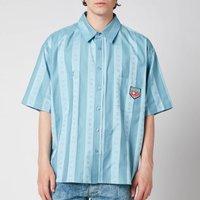 Martine Rose Men's Duel Short Sleeve Shirt - Light Blue - L