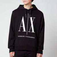 Armani Exchange Men's Large Ax Logo Hoodie - Black - M
