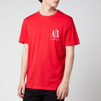 Armani Exchange Men's Small Ax Logo T-Shirt - Red - S