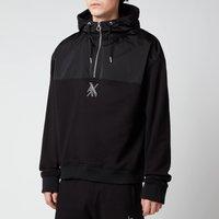Armani Exchange Men's Half Zip Hoodie - Black - XL