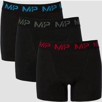 MP Men's Coloured logo Boxers (3 Pack) - Wine/Cactus/Bright Blue - S
