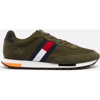 Tommy Jeans Men's Retro Mix Pop Running Style Trainers - Dark Olive - UK 10.5