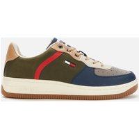 Tommy Jeans Men's Basket Cupsole Trainers - Dark Olive - UK 7
