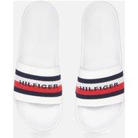 Tommy Hilfiger Men's Knitted Slide Sandals - White - UK 9