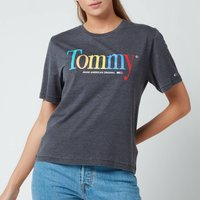 Tommy Jeans Women's Tjw Relaxed Color Tommy Tee - Black - XS