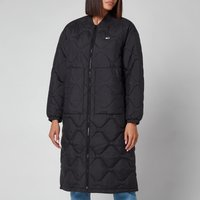 Tommy Jeans Women's Tjw Quilted Bomber Coat - Black - XS