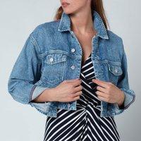 Tommy Jeans Womens Crop Trucker Jacket - Denim Light - L