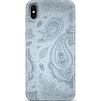 Light Blue Paisley Phone Case for iPhone and Android - Samsung S10 - Snap Case - Matte
