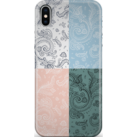 Patchwork Paisley Phone Case for iPhone and Android - iPhone 7 Plus - Snap Case - Matte
