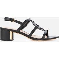 Coach Women's Edina Leather Block Heeled Sandals - Black - UK 8