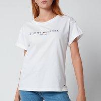 Tommy Hilfiger Women's Relaxed Hilfiger Crewneck T-Shirt - White - M