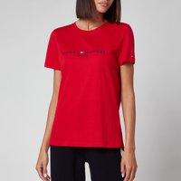 Tommy Hilfiger Women's Regular Hilfiger Crewneck T-Shirt - Primary Red - XS