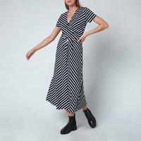 Tommy Hilfiger Womens Viscose Midi Wrap Dress - Breton Stripe/Desert Sky - M