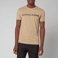 Calvin Klein Jeans Men's Slim Organic Cotton Logo T-Shirt - Beige - XXL