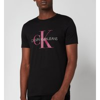 Calvin Klein Jeans Mens Slim Organic Cotton Monogram T-Shirt - Black - L