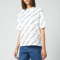 Calvin Klein Jeans Women's Logo Aop T-Shirt - Logo AOP White - L