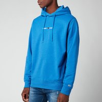 Tommy Jeans Men's Straight Logo Hoodie - Liberty Blue Heather - XL