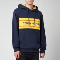 Tommy Jeans Men's Pieced Band Hoodie - Twilight Navy/Multi - L