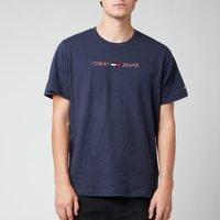 Tommy Jeans Mens 3D Linear Logo T-Shirt - Twilight Navy - S