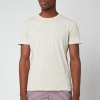 Frescobol Carioca Men's Lucio Linen Blend T-Shirt - Sand Dune - M