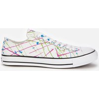 Converse Men's Chuck Taylor All Star Archive Paint Splatter Print Ox Trainers - White - UK 7