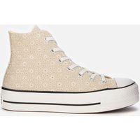 Converse Women's Chuck Taylor All Star Lift Hi-Top Trainers - Farro/Natural Ivory/Vintage White - UK