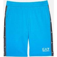 EA7 Boys' Train Logo Bermuda Shorts - Diva Blue - 4 Years