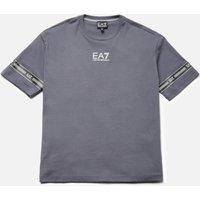 EA7 Boys' Train Logo Series T-Shirt - Iron Gate - 6 Years