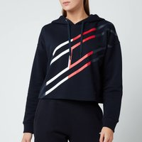 Tommy Sport Women's Relaxed Flag Graphic Hoodie - Desert Sky - S