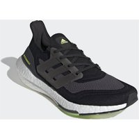 adidas Ultra Boost 21 Running Shoes - Core Black/Silver Met./Solar Yellow - US 9.5/UK 9