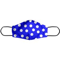 Bright Blue Polka Dots Face Mask - L