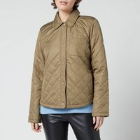 Barbour Womens Blue Caps Quilted Jacket - Dusky Green - UK 8