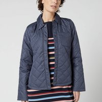 Barbour Womens Blue Caps Quilted Jacket - Summer Navy - UK 14