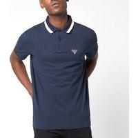 Barbour Beacon Men's Tipped Polo Shirt - Navy - XL
