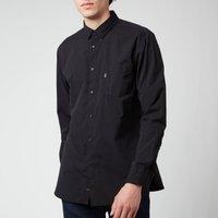 BOSS Casual Men's Logo Patch Slim Fit Shirt - Black - S