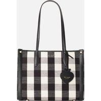 Kate Spade New York Womens Market Gingham Medium Tote Bag - Black Multi
