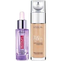 Dúo de sérum y base de maquillaje con ácido hialurónico True Match de L'Oréal Paris - 6.5W Golden Toffee