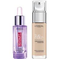 Dúo de sérum y base de maquillaje con ácido hialurónico True Match de L'Oréal Paris - 1C Rose Ivory