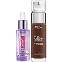 Dúo de sérum y base de maquillaje con ácido hialurónico True Match de L'Oréal Paris - 12N Ebony