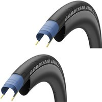 Goodyear Eagle F1 Tubeless Road Tyre Twin Pack - 700C x 32mm - Black