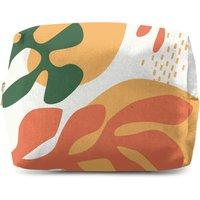 Mid Warm Leaf Pattern Wash Bag