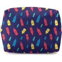 Gin Bottles Navy Wash Bag